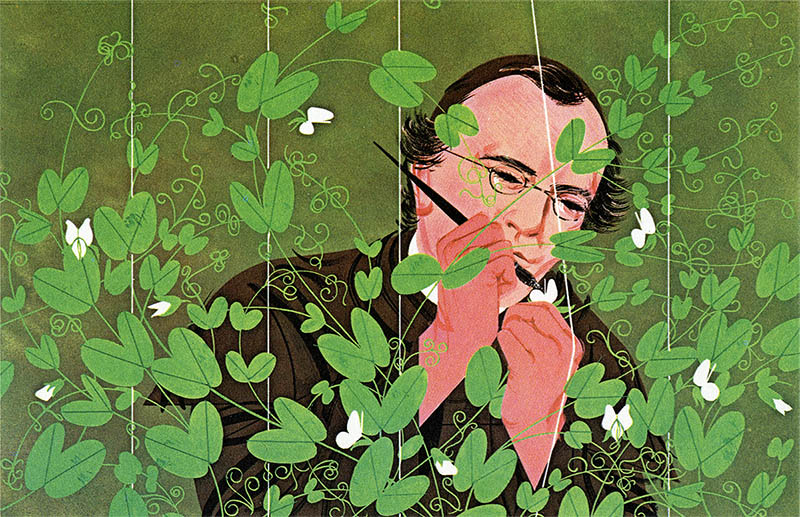 Gregor Mendel | Charley Harper Prints | For Sale