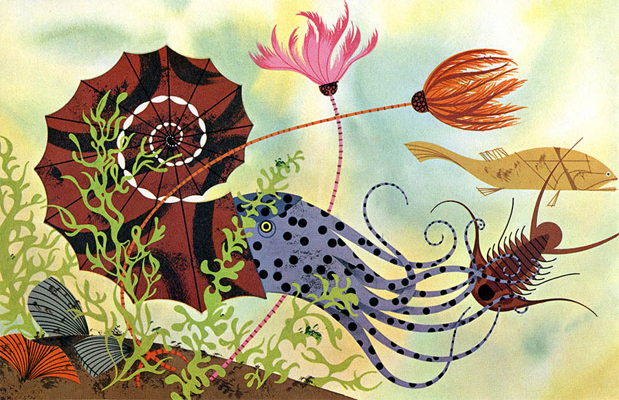 Golden Book of Biology | Sea Creature | Charley Harper Prints | For Sale