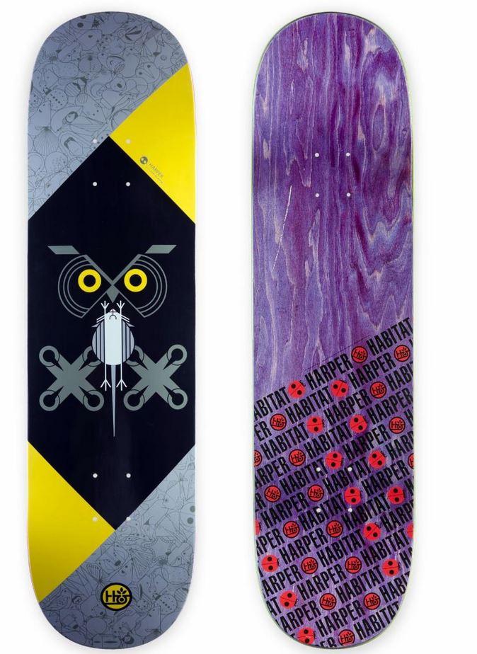Habitat Skateboards x Charley Harper Owl Wildlife Art Series Patch